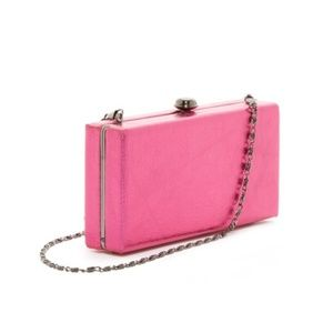 DEUX LUX Sparkle Pink Skyline Box Clutch